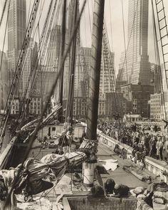 Theoline, Pier 11, East River, Manhattan by Berenice Abbott - 20x200