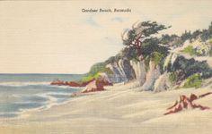 Gardner Beach Bermuda Vintage Linen by postcardsofthepast on Etsy, $2.50