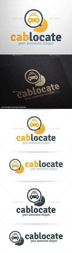 Cab Locate  - Logo Design Template Vector #logotype Download it here: http://graphicriver.net/item/cab-locate-logo-template/9324229?s_rank=865?ref=nexion