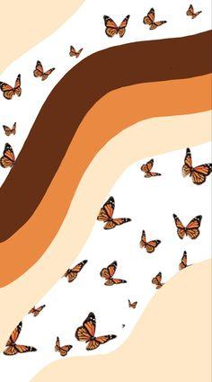 Cute Fall Wallpaper, Cute Patterns Wallpaper, Halloween Wallpaper Iphone, Hippie Wallpaper, Trendy Wallpaper, Iphone Wallpaper Tumblr Aesthetic, Aesthetic Pastel Wallpaper, Aesthetic Wallpapers, Butterfly Wallpaper Iphone
