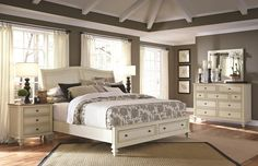 Master Bedroom Ideas: Cottonwood (Queen Bed, Dresser & Mirror) by Aspen Home at Kensington Furniture. This is the perfect coastal bedroom design!