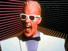 Max Headroom 1985. : OldSchoolCool Max Headroom, Beatnik, Photo Essay, Business Outfits, Kurt Cobain, Cool Kids, Pop Culture, Mirrored Sunglasses, Nostalgia