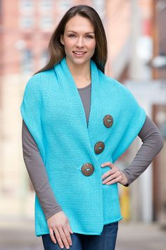 Handmade Cotton Button Wrap by Overland Sheepskin Co. (style 38300)