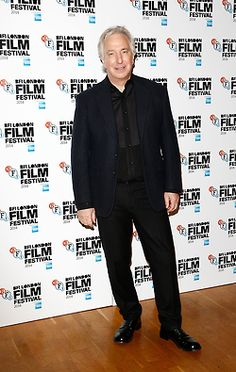 Alan Rickman at the premiere of A Little Chaos at the 58th Annual BFI London Film Festival.