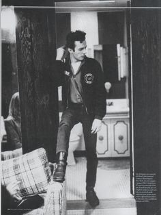 Joe Strummer photographed by Pennie Smith in the dressing room of the Bond's International Casinò in 1981