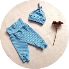 Baby Leggings and Hat Set in Organic Cotton by MeadowsweetOrganics