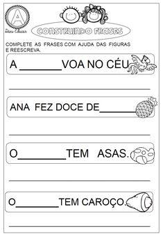 Atividades com frases Portuguese Lessons, Human Body, Professor, Classroom, Math, Siena, Blog, Poetry Activities, Preschool Literacy Activities