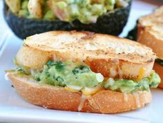 grilled cheese guac sliders.