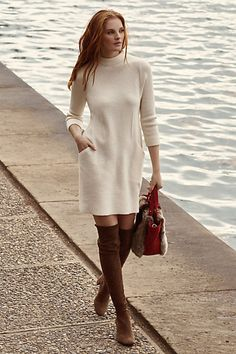 Boiled Wool Mock-Neck Dress #anthropologie