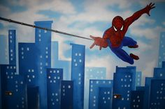 Spiderman Wall Mural Decorating - Wallpaper Mural Ideas - 12519