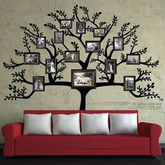 Arbre Decal - livraison gratuite * - grand arbre de la famille branche feuilles photos cadres Photo Collage séjour salle à manger couloir intérieur decoration murale Plus