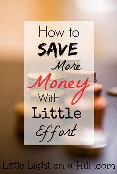 Are you looking for simple ways to save more money. Here is one easy tip for saving more money without a lot of extra work!