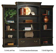 Hekman Executive Right Pier Bookcase - Louis Philippe Series HK-7-9145 $1197.60
