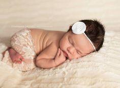 Newborn Sand Stretch Lace Leggings baby pants by PetuniaandIvy