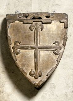 Coat of Arms, Late 13th or Early 14th century, French, stone -- [arms] of Guillaume V (de Moustuéjouls), Abbot of St.-Guilhem-le-Désert, 1287-1302, or of Raymond V (de Moustuéjouls), Abbot in 1318; of Reinoso (Spain)