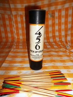 RARE VINTAGE 456 Wooden Pick Up Sticks O by YoungsForeverVintage, $9.99