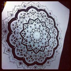 dot work mandala design
