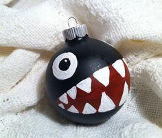 Mario Chain Chomp Christmas Ornament