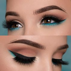 The Smokey Eye Make-up is perfect for the shape of your eyes . - Make-up - # . , The Smokey Eye Make-up is perfect for the shape of your eyes . - Make-up - Makeup Eye Looks, Cute Makeup, Smokey Eye Makeup, Eyeshadow Makeup, Gorgeous Makeup, Blue Eyeliner, Makeup Brushes, Perfect Makeup, Makeup Remover