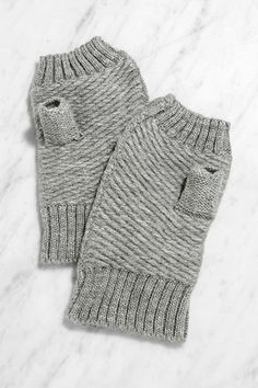 Mimicking Movements Grey Fingerless Gloves