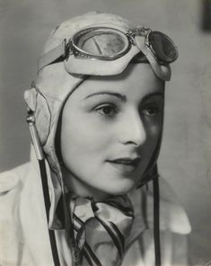 Mona Friedlander, British pilot by Bassano (1939)