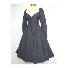 GEORGE HALLEY 60'S BLACK SILK PARTY DRESS