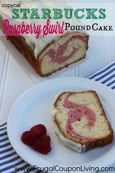 Copycat Starbucks Raspberry Swirl Pound Cake Recipe  http://www.frugalcouponliving.com/2014/06/19/copycat-starbucks-raspberry-swirl-pound-cake-recipe/
