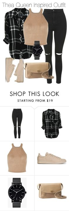 """Thea Queen Inspired Outfit"" by staystronng ❤ liked on Polyvore featuring Topshop, adidas, The Horse, UGG Australia, Arrow, autumn and theaqueen"