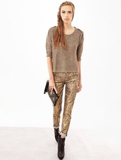 jeans 7 For All Mankind The Skinny The Skinny Gold Reptile