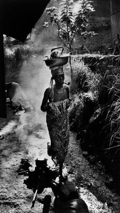 W. Eugene Smith - French Equatorial Africa. Gabon. (1954) A woman going to Dr. Albert Schweitzer's Mission Hospital. Magnum Photos Photographer Portfolio