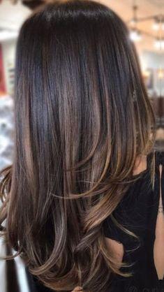 6 Great Balayage Short Hair Looks – Stylish Hairstyles Brown Hair Balayage, Hair Color Balayage, Subtle Balayage Brunette, Brunette Hair Colour, Balayage Dark Hair, Highlights For Black Hair, Dark Brunette Balayage Hair, Haircolor, Best Hair Colour