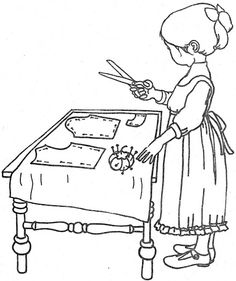 Embroidery Pattern Coloring Book~HH House Of Coloring Fun - Bonnie Jones - Picasa Web Albums Vintage Embroidery, Embroidery Applique, Cross Stitch Embroidery, Machine Embroidery, Embroidery Designs, Applique Patterns, Coloring Books, Colouring, Needlework