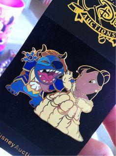 Lilo & Stitch - Beauty and the Beast pin -- I want