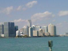 Downtonw Miami as seen from the Rickenbacker Causeway Key Biscayne