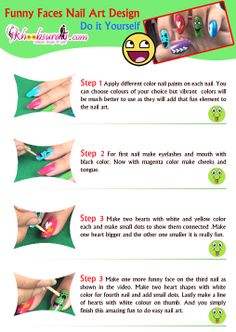 Funny Faces Nail Art DesignTutorial For Beginners!!!!! https://www.youtube.com/watch?v=fikHMrsND0Y