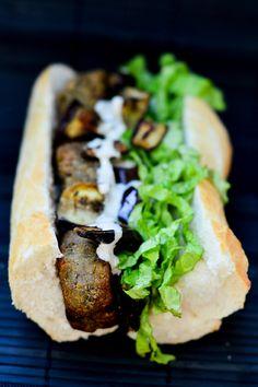 Falafel and tahine sauce sandwich.  Photo by: Nadya Costa