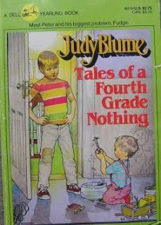 """The first of Judy Blume's three """"Fudge Books"""" that follow Peter Hatcher, his little brother Fudgie, baby sister Tootsie, their neighbor Sheila Tubman, various pets and minor characters through New York City and on treks to suburbs and camps."""