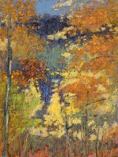 "Autumn, Hyde Park | oil on linen | 24 x 18"" | 2017"