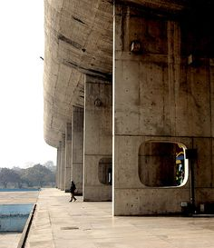 #19 - proportion  Le Corbusier based his proportion on a somewhat arbitrary starting point of a modern vitruvian man...are his buildings arbitrary in proportion?  Assembly - Chandigarh - Le Corbusier