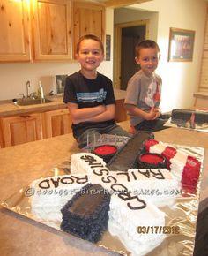 Coolest Railroad Crossing Gate Birthday Cake