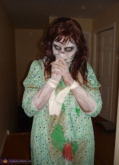 Regan from The Exorcist...This may be my costume this year. @Kathleen Klitzing
