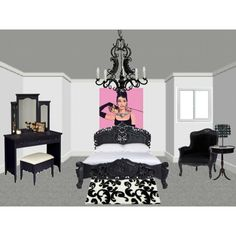 """""""Classical-Vintage Inspired Audrey Hepburn Room"""" by deanna9494 on Polyvore"""
