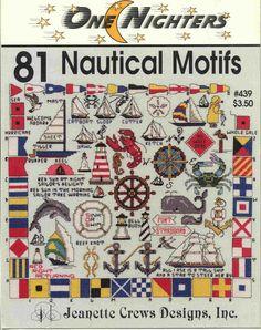 Brain Clutter: Cross stitch pattern: Nautical motifs