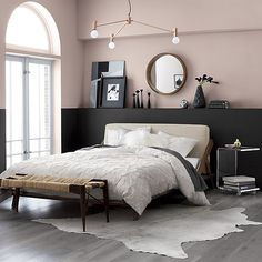 This is a Bedroom Interior Design Ideas. House is a private bedroom and is usually hidden from our guests. However, it is important to her, not only for comfort but also style. Much of our bedroom … Bedroom Black, Taupe Bedroom, Dusty Pink Bedroom, Pink Bedroom Walls, Bedroom Wall Colors, Neutral Bedrooms, Bedroom Small, Pale Pink Bedrooms, Black Carpet Bedroom