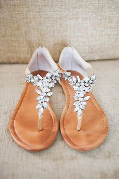 18 Wedding Sandals You'll Want To Wear Again ❤️ Perfect for summer beach wedding, flat, comfortable - wedding sandals have many advantages. See more: http://www.weddingforward.com/wedding-sandals/ #weddings #shoes