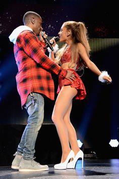 Big Sean and Ariana Grande perform onstage during KIIS FM's Jingle Ball 2014  on Dec. 5, 2014, in Los Angeles. Getty -Cosmopolitan.com