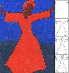 Bernard Hoyes-Inspired Dancing Lady #drawing