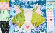 The cutest quilt block we've seen!  Can you imagine an entire quilt of this kitty?