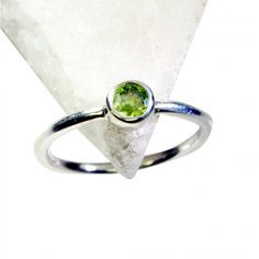 Riyo Juicy Peridot 925 Solid Sterling Silver Green Ring Srper70-58056