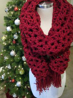 Perfect Crochet Scarf with Tassels by CrochetaLaMae on Etsy, $40.00